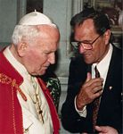 John Haffert and Pope John Paul II