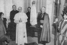 Pope Pius XII Blesses the Pilgrim Virgin Statue